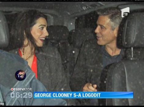 George Clooney s-a logodit