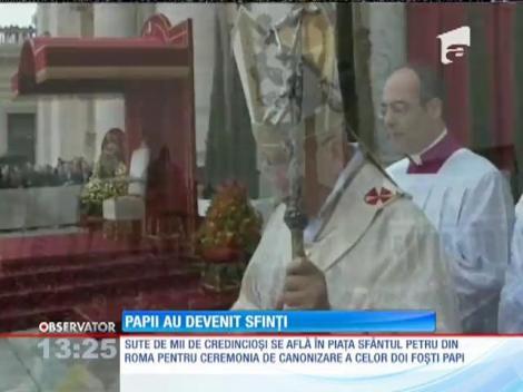 Eveniment istoric: cei doi papii au devenit Sfinți