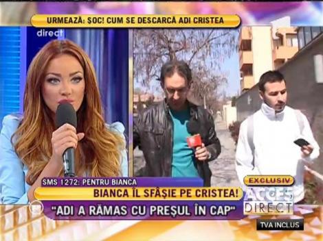 """Bianca Drăgușanu: """"Adi Cristea bea fără măsură!"""""""