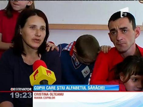 4 frați din București au învăţat să mascheze foamea şi suferinţa