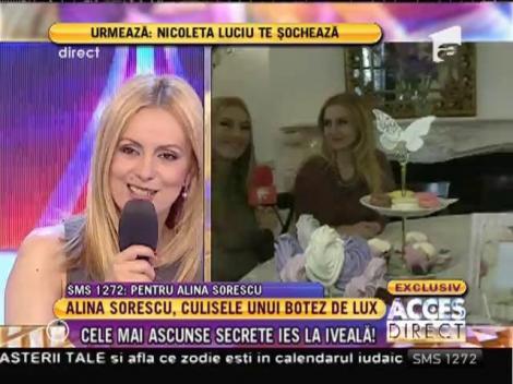 """Alina Sorescu, culisele unui botez de lux: """"O să avem 200 de invitaţi!"""""""
