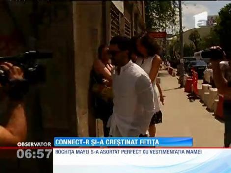 Connect-R şi soţia sa, Misha, au botezat-o ieri pe Maya