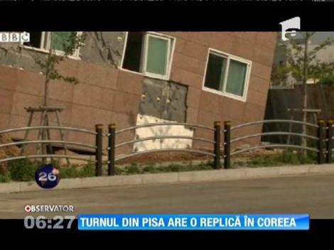 Celebrul turn din Pisa are o replică acum în Coreea de Sud!