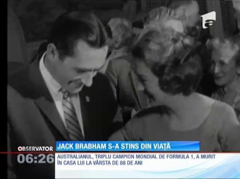 Fostul campion mondial de Formula 1, Jack Brabham, s-a stins din viaţă