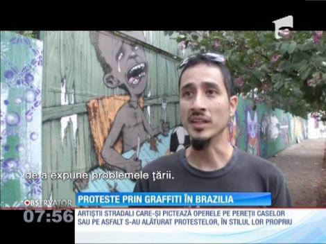 Proteste prin graffiti în Brazilia