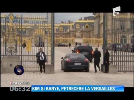 Kanye West şi Kim Kardaşian, petrecere la Versailles
