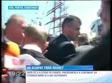 Bărbatul care l-a scuipat pe Traian Băsescu va fi lăsat liber