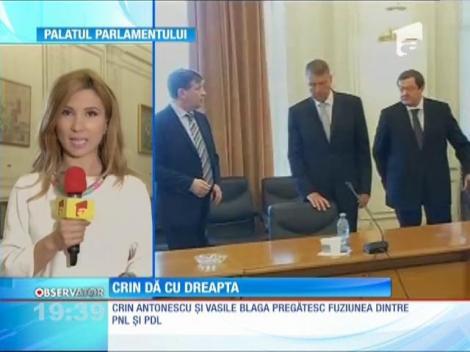 Crin Antonescu şi Vasile Blaga pregătesc fuziunea dintre PDL şi PNL