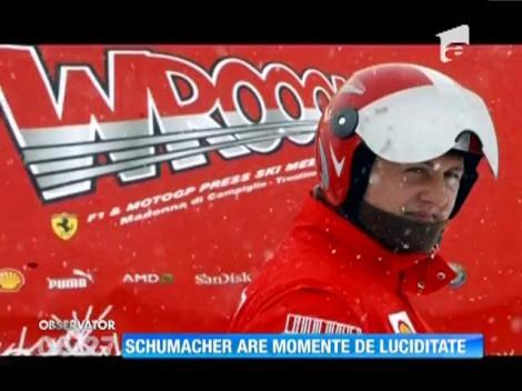 Michael Schumacher are momente de luciditate