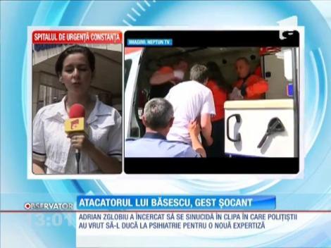 Atacatorul lui Băsescu a încercat să se sinucidă