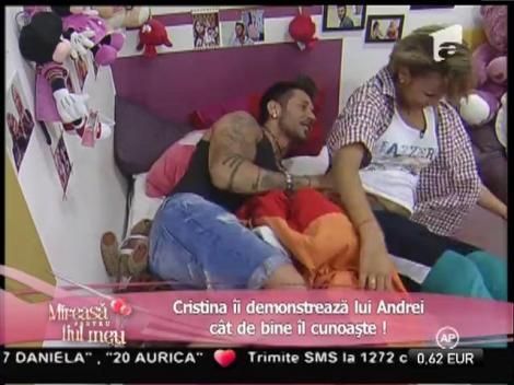 Pentru câteva minute, Cristina s-a transformat în Andrei!