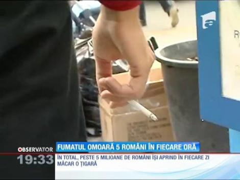 Fumatul omoară 5 oameni în fiecare ora, în România