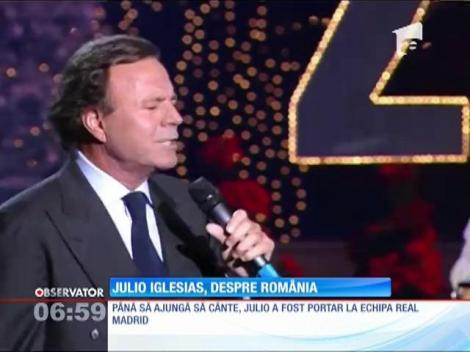 Julio Iglesias va concerta vara aceasta în România