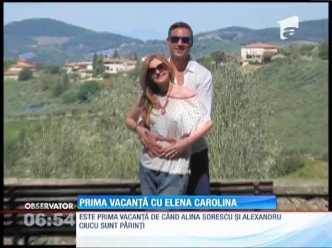 Alina Sorescu şi Alexandru Ciucu, în prima vacanţa cu fetiţa lor