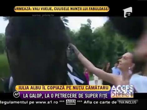 Iulia Albu îl copiază pe Nuţu Cămătaru