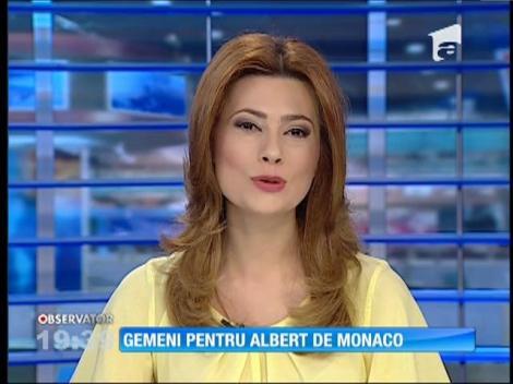 Prinţul Albert de Monaco va deveni tată de gemeni