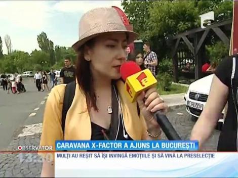 Caravana X Factor a ajuns la București