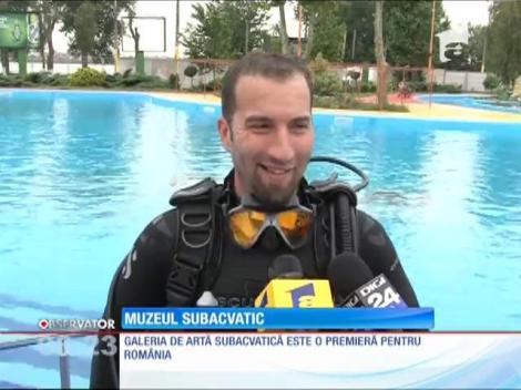 O piscină din Mamaia a fost transformată în galerie de artă