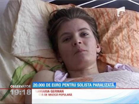 Cântăreaţa paralizată după un accident cumplit i-a topit inima lui Gigi Becali