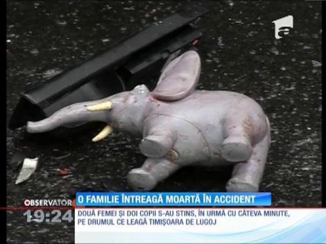 O familie întreagă moartă în accident