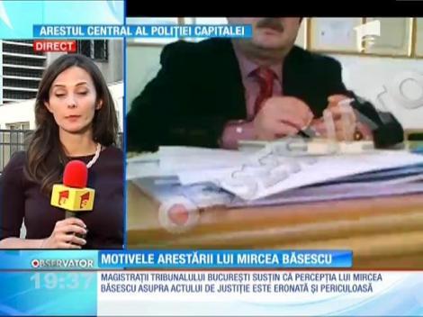 Motivele arestării lui Mircea Băsescu