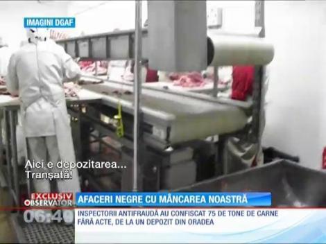 Tone de carne vândute fără acte pe piaţa românească!