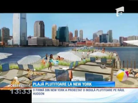 Plajă plutitoare la New York