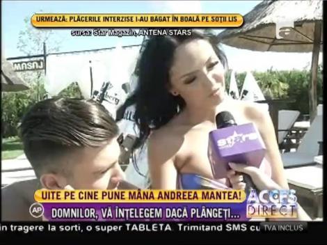 FIERBINTE! Burlăciţa Andreea Mantea, atingeri extrem de sexy la piscină! Iată cine e norocosul