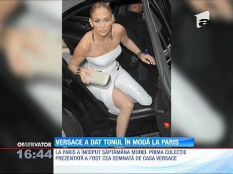 Donatella Versace şi Jennifer Lopez au dat tonul în modă la Paris