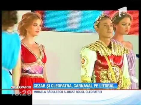 Radu Mazăre şi Mihaela Rădulescu, în rolurile lui Cezar şi al Cleopatrei