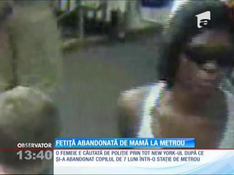 VIDEO! Momentul nemilos în care o fetiţă este abandonată de mamă la metrou