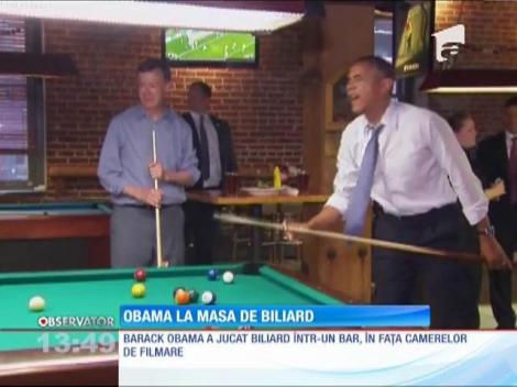 Barack Obama, la masa de biliard