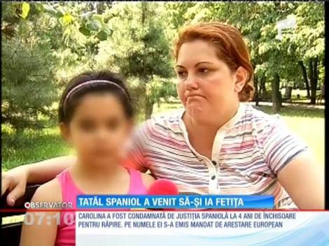 Tatăl spaniol a venit să-şi ia fetiţa
