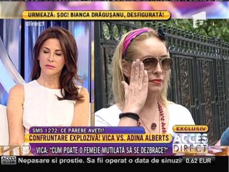 Vica Blochina, uimită de decizia medicului Adina Alberts de a o acţiona în instanţă!