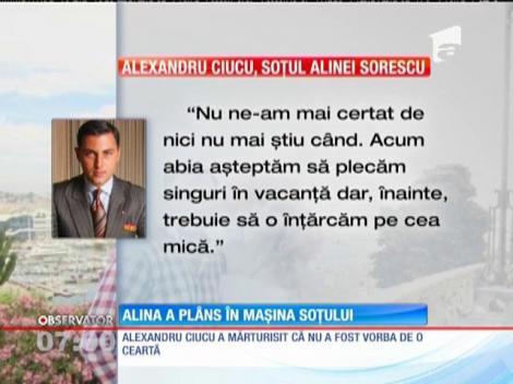 Alina Sorescu, în lacrimi după o discuţie aprinsă cu soţul ei