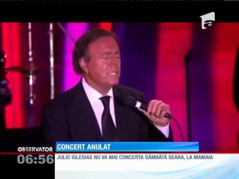 Julio Iglesias şi-a anulat concertul de la Mamaia