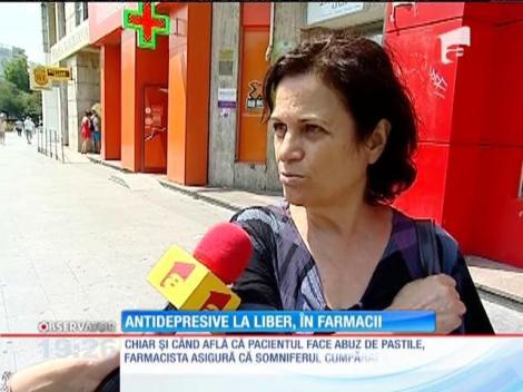 Antidepresivele se vând fără rețetă în farmaciile din România