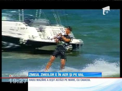 Radu Mazăre a ieșit cu caiacul pe mare