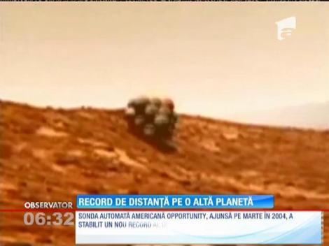 Record de distanță pe o altă planetă