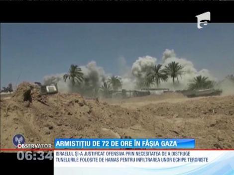 Armistiţiu de 72 de ore în Fâşia Gaza