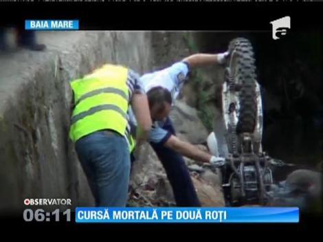 Cursă mortală pe două roți pe o șosea din Baia Mare