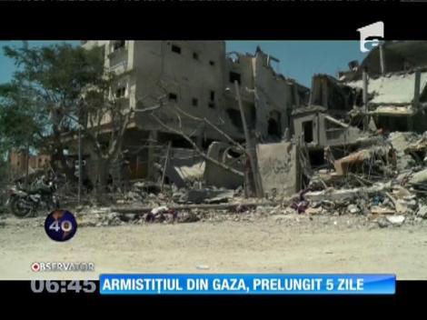 Armistiţiul din Gaza, prelungit 5 zile
