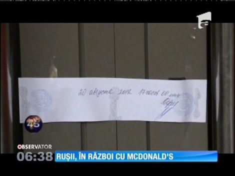 Patru restaurante McDonald's din Moscova au fost închise