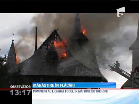 Mănăstire în flăcări