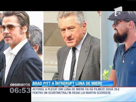 Brad Pitt şi-a întrerupt luna de miere din Marea Mediterană