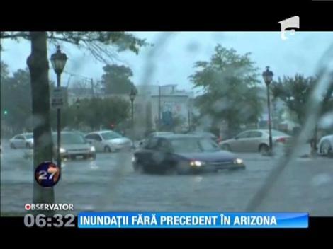 Inundaţii fără precedent în Arizona