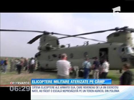 Şase elicoptere militare americane au aterizat pe un câmp din Polonia