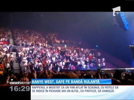 Kanye West, gafe pe bandă rulantă