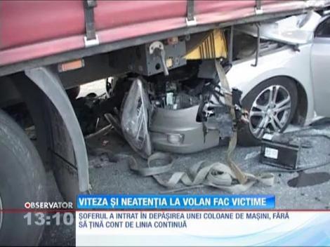 Viteza şi neatenţia la volan fac victime