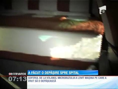 Tulcea: Șase oameni au fost la un pas de moarte din cauza șoferului unui microbuz